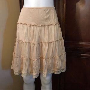 🆕 Finesse Tan Midi Skirt-Small